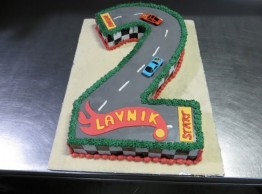 Racetrack Shaped Cake